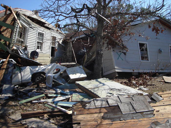 Devestation in New Orleans Post Hurricane Katrina